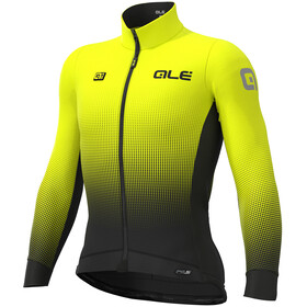Alé Cycling PRS Dots DWR Longsleeve Jersey Heren, black-yellow fluo